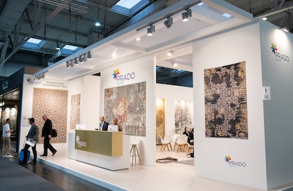 Woven carpets by Prado Egypt For Carpet at DOMOTEX 2019 in Hanover (c) Domotex / Deutsche Messe 2019
