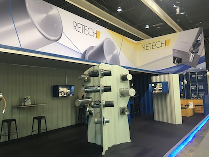 RETECH booth at ITMA 2019 (c) 2019 RETECH