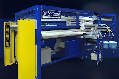 Each operation on the LOWRY® works simultaneously for a fast, consistent flow of production (c) 2018 Softwear Automation