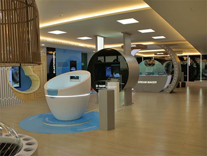 Interactive zones at the Footwear Innovation Center (c) 2020 BASF
