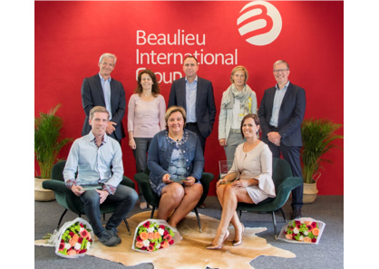 Caption: B.I.G.'s Sustainability Award Logistics ceremony to thank the teams for their contribution in reducing CO2 emissions drastically. (Photo: © Beaulieu International Group)