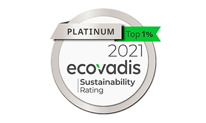 Borealis is proud to have achieved the Platinum Medal in the annual EcoVadis assessment of corporate social responsibility (CSR) for the first time. / Image: © EcoVadis