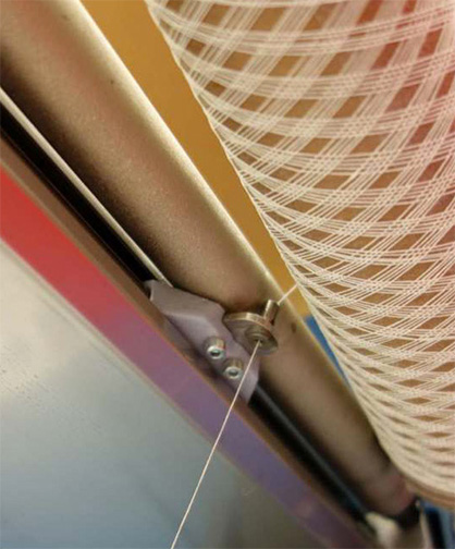 Production of a lampshade: Structure winding process. Photo: DITF