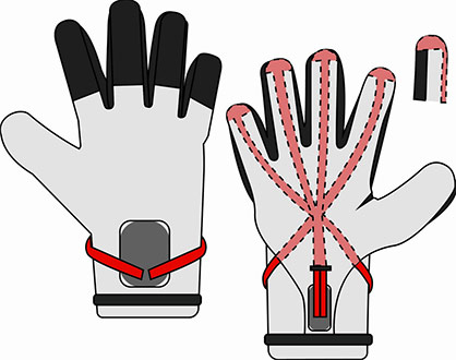 Structure of the new goalkeeper glove. Figure: T1TAN