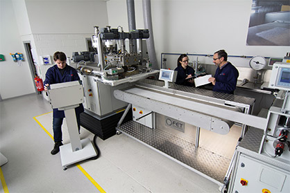Many trials and test with sustainable polyamides and polyesters, as well as with PHAs and a range of of PLAs, have been undertaken by the company. (c) 2020 FET