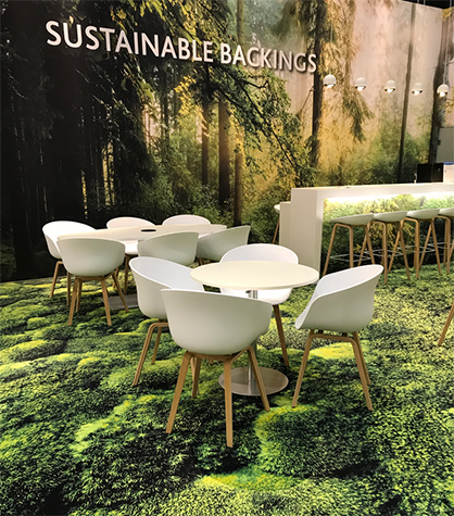 Creating an atmosphere of sustainable well-being with high-performance backings (c) 2020 Freudenberg