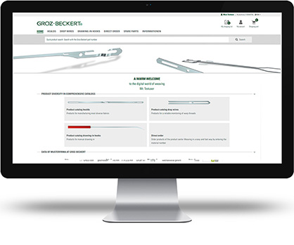 The customer portal welcome page is the perfect starting point (c) 2018 Groz-Beckert