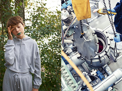 Monki's online exclusive tracksuit from 2020 is the first result from the Green Machine. © 2021 H&M