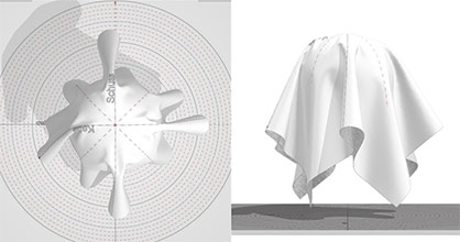Determining the draping behavior using a drapemeter is an important parameter for the realistic 3D simulation of textile fabrics. © Hohenstein