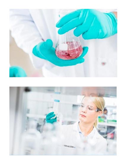 The use of chemicals that may be harmful to the environment and health in the manufacturing process for textiles, leather and shoes should be significantly reduced.  |  Our laboratories are available to all manufacturing companies that would like to have their value creation chain certified for ZDHC con-formity. (c)  2019 Hohenstein
