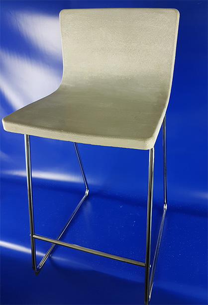 Concrete bar stool with hybrid carbon reinforcement for fast, cost-efficient part production, source: ITA