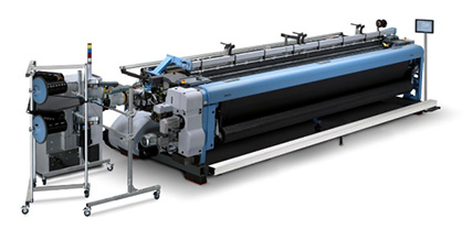 Itema P7300HP V8: Unique weft insertion system and the widest width on the market. Ideal for the full range of technical fabrics with outstanding quality and unparalleled quality. (c) 2018 Itema