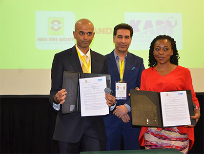 Mr. S. Hari Shankar, Chairman, India ITME and Ms. Phyllis Wakiaga, Executive Director Kenya Association of Manufacturers Signing the MOU (c) 2020 India ITME Society