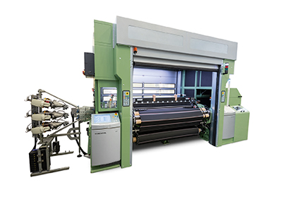 From wool to glass in one weaving workshop: The future-oriented encapsulated air-jet weaving machine brings different, individually controllable climate zones into the production workshop for the  rst time DORNIER air-jet weaving machine, Type AWS 6/S G16 with a nominal width of 210 cm Nennbreite (c) 2019 Lindauer DORNIER