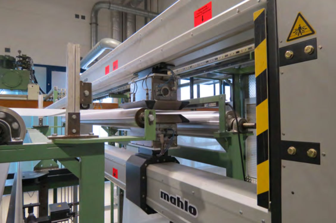 Gravimat DFI installation at Kirson Industrial Reinforcements GmbH (c) 2020 Mahlo