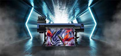 The newest addition in the 100 Series, the TS100-1600 is a dye-sublimation textile printer designed for a diverse range of applications in fashion, soft signage, home & interior, sportswear, and personalised items. © 2021 Mimaki