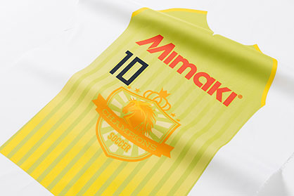 Textile application sportswear (c) 2018 Mimaki