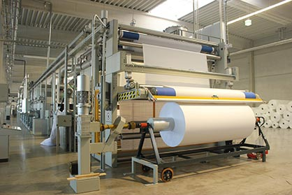 A European Montex range for the production of digital print substrates. (c) 2019 Monforts