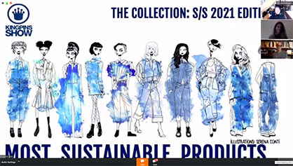 Monforts customers dominated in the Kingpins 2021 Most Sustainable Products (MSP) design collection. (c) 2020 Monforts