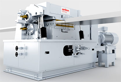 Oerlikon Neumag Baltic crimper - new thrust pad contacting device for less wear (c) 2020 Oerlikon