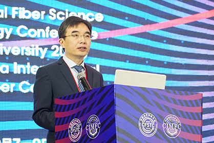 Duan Xiaoping, Vice President of the China National Textile and Apparel Council (CNTAC) and President of the China Chemical Fibers Association (CCFA) spoke on the topic:
