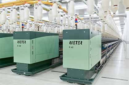 Compact-spinning machine K 48 (c) 2018 Rieter