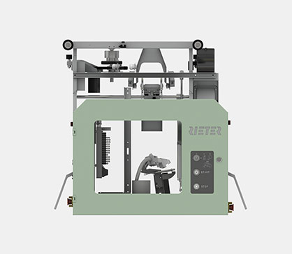 ROBOdoff saves time and money by automating the package change on the rotor spinning machine R 37. © 2021 Rieter
