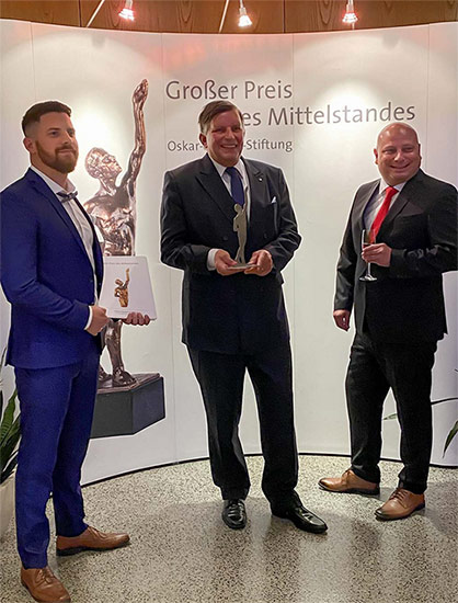From left to right: Julian Burmeister (Technical Director); Dr. Andreas Ecker (Executive Director); Maik Eisenhardt (Sales and Marketing Director) © 2021 RSG