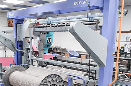 SAFIR S60 draws in directly from the warp © 2021 Staeubli