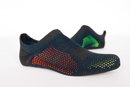 TT sports | Innovative knitwear ideas such as knit & wear or STOLL 3D multi-shell for shoe uppers combined with intelligent material incorporation and equipment for functional and comfortable sportswear (c) 2019 STOLL