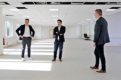 Manufacturing space for the new operation was quickly allocated at the group's head office in Borås. Image courtesy of BoråsTidning. (c) 2020 TMAS