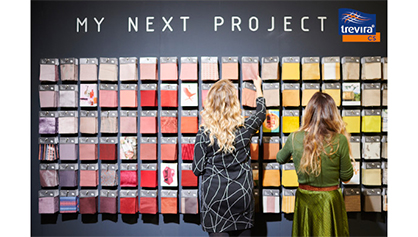 © Trevira GmbH - Trevira CS sample wall in the special exhibition