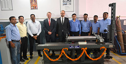 The Trützschler and ATE team at the inauguration of the Card Clothing center in Panipat. © 2021 Truetzschler
