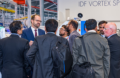 Many visitors have been very interested in the new card TC 19i and wanted to learn more about its intelligence (c) 2019 Truetzschler