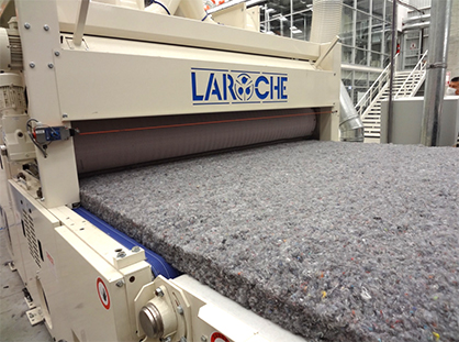 Pic: LAROCHE nonwoven from recycled apparel